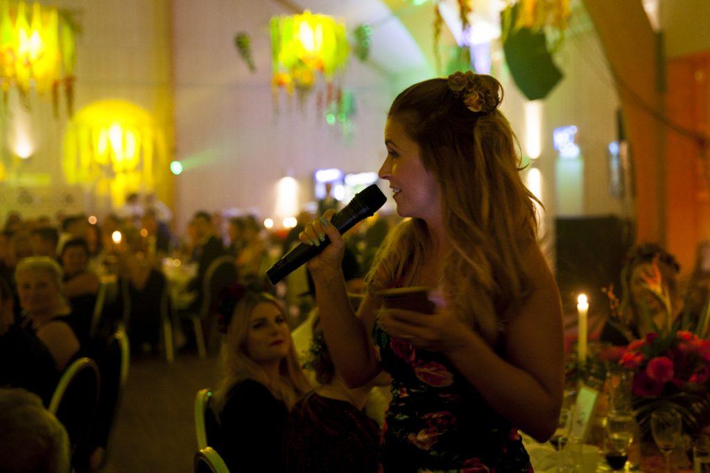 Marie Sevlidis, People, höll middagens avslutande tacktal