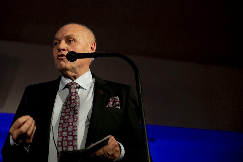 Kalmar läns landshövding Thomas Carlzon höll kvällens tal.